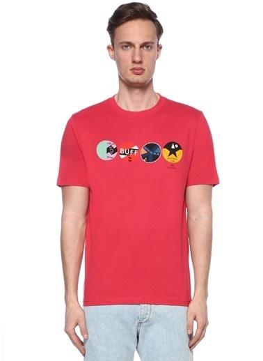 PS by Paul Smith Bisiklet Yaka Baskılı Tişört Pembe